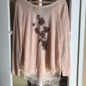 Lauren Conrad Snow White princess sweater medium